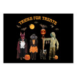Halloween Trick or Treat Dogs Large Business Cards (Pack Of 100)