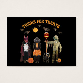 Halloween Trick or Treat Dogs Business Card