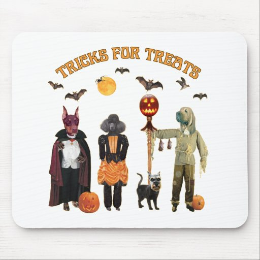 Halloween Trick or Treat Dogs Mouse Pad