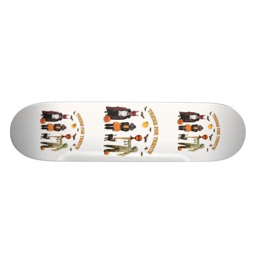 Halloween Trick or Treat Dogs Skateboard Deck