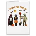 Halloween Trick or Treat Dogs Stationery Note Card