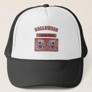 Halloween -Trick Or Treat Faded Pumpkin Orange Trucker Hat