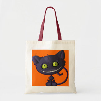 Halloween Trick Or Treat Grinning Black Cat Tote Bag