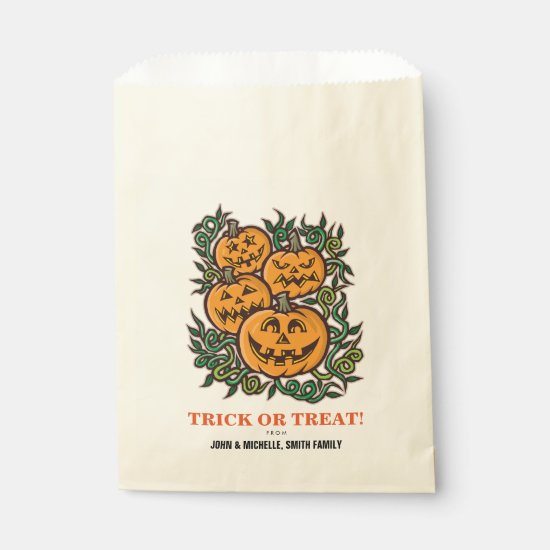 Halloween Trick or Treat Jack O' Lantern Favor Bag