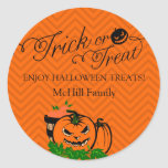 Halloween Trick or Treat Label Stickers