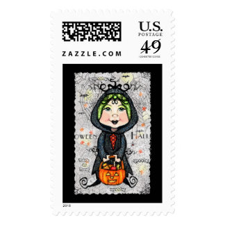 Halloween Trick Or Treat Little Witch Stamp