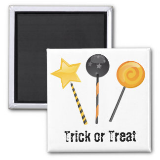 Halloween Trick or Treat Lollipops 2 Inch Square Magnet