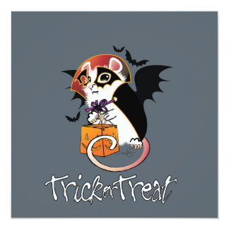 Halloween Trick or Treat Mouse Card