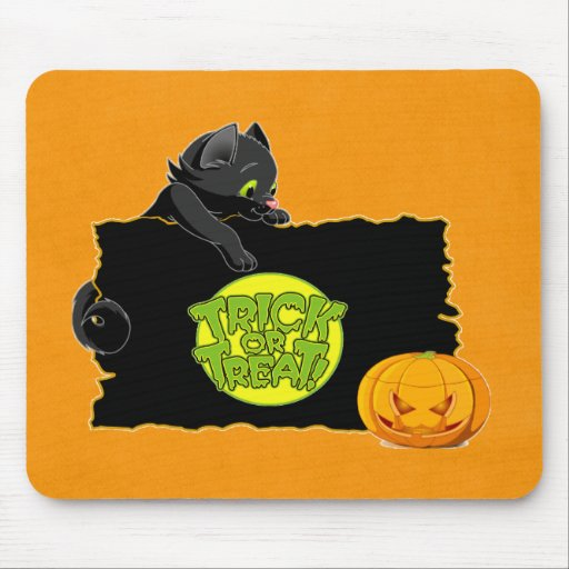 Halloween trick or treat mouse pad