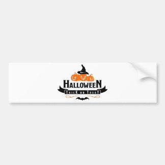 Halloween Trick Or Treat Party Bumper Sticker