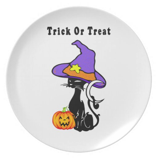 Halloween Trick or Treat Party Plate