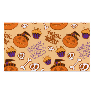 Halloween Trick-or-Treat Pattern Double-Sided Standard Business Cards (Pack Of 100)