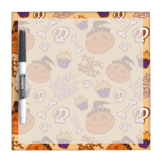 Halloween Trick-or-Treat Pattern Dry Erase Whiteboards