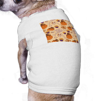 Halloween Trick-or-Treat Pattern Pet Tshirt
