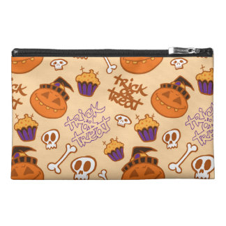 Halloween Trick-or-Treat Pattern Travel Accessories Bags