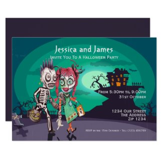 Halloween Trick or Treat Personalized Invitation