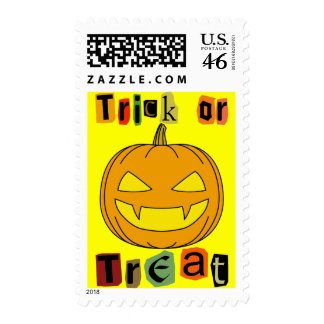 Halloween Trick or Treat Postage Stamps