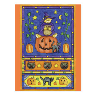 Halloween trick or Treat Post Card