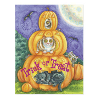 Halloween trick or Treat Postcards