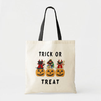 Halloween Trick or Treat Pug Dogs Bags