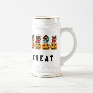 Halloween Trick or Treat Pug Dogs Beer Stein