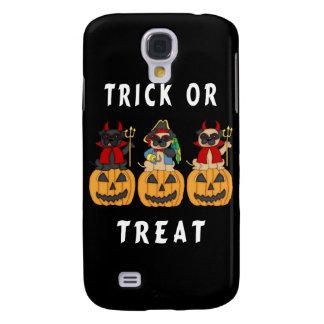 Halloween Trick or Treat Pug Dogs Samsung Galaxy S4 Case