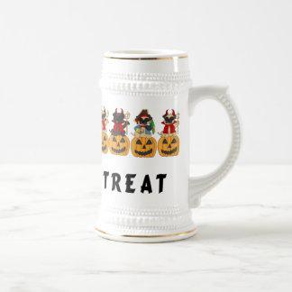 Halloween Trick or Treat Pug Dogs Coffee Mug