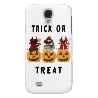 Halloween Trick or Treat Pug Dogs Galaxy S4 Case
