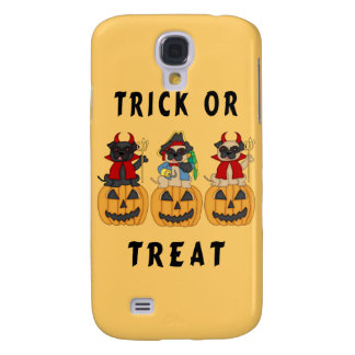 Halloween Trick or Treat Pug Dogs Galaxy S4 Covers
