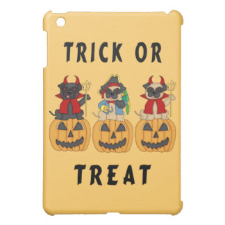 Halloween Trick or Treat Pug Dogs iPad Mini Covers