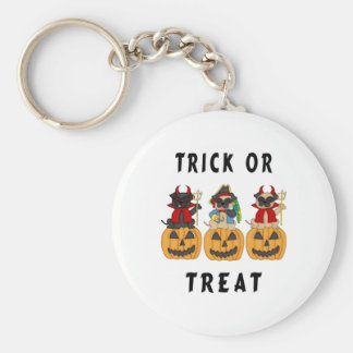 Halloween Trick or Treat Pug Dogs Key Chains