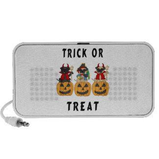 Halloween Trick or Treat Pug Dogs Laptop Speaker