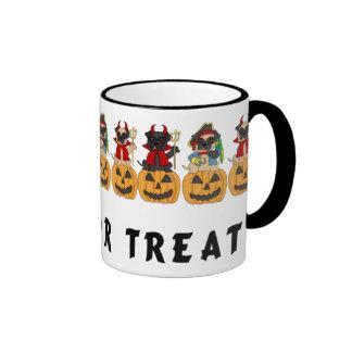 Halloween Trick or Treat Pug Dogs Mugs