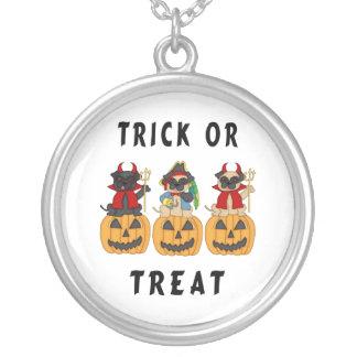 Halloween Trick or Treat Pug Dogs Jewelry