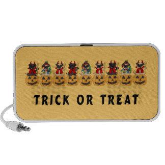 Halloween Trick or Treat Pug Dogs Notebook Speaker