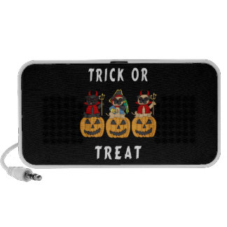 Halloween Trick or Treat Pug Dogs Travelling Speakers