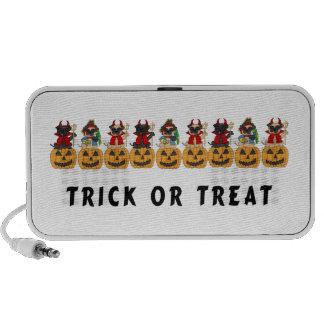 Halloween Trick or Treat Pug Dogs Speakers