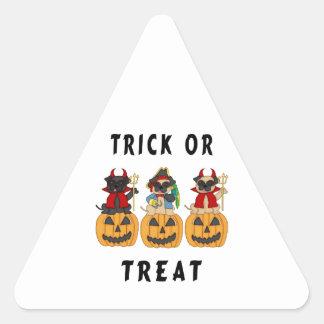 Halloween Trick or Treat Pug Dogs Sticker