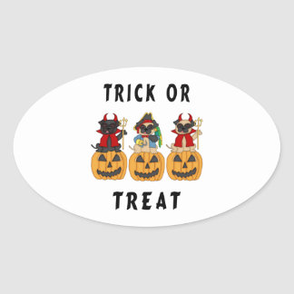 Halloween Trick or Treat Pug Dogs Stickers