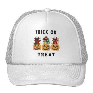 Halloween Trick or Treat Pug Dogs Trucker Hats
