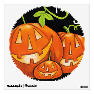 Halloween Trick or Treat Pumpkin and Candy Corn Wall Decal