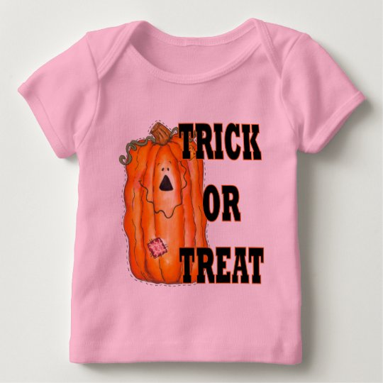 Halloween Trick Or Treat Pumpkin Baby T-Shirt
