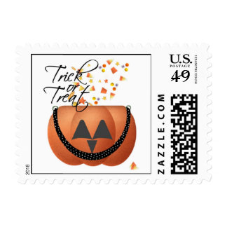Halloween Trick Or Treat Pumpkin Stamp