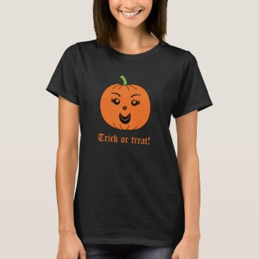 Halloween Themed Halloween Trick or Treat Pumpkin T-Shirt
