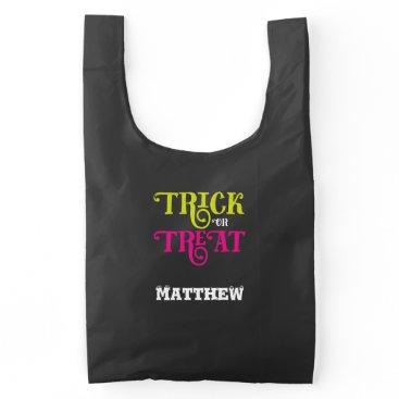 Halloween Themed Halloween Trick or Treat Sack Loot Bag
