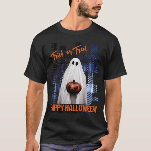 HALLOWEEN TRICK OR TREAT SCARY GHOST FOREST MENS T_Shirt