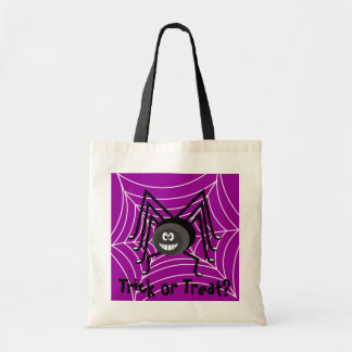 Halloween Trick or Treat Spider Candy Bag