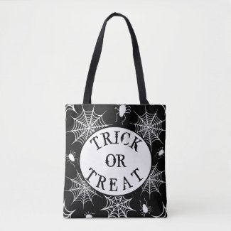 Halloween Trick or Treat Spiders Tote Bag