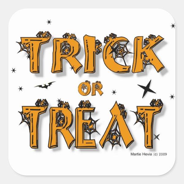Halloween - Trick or Treat - Sticker