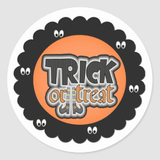 Halloween trick or treat stickers